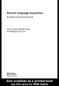 Second Language Acquisition: An Advanced Resource Book
