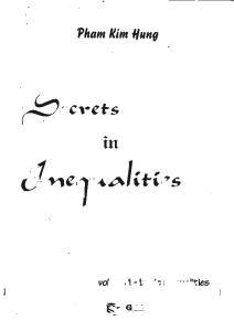 Secrets in Inequalities, Vol. 1 - Basic Inequalities