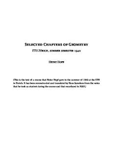 Selected chapters of geometry
