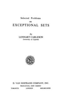 Selected problems on exceptional sets