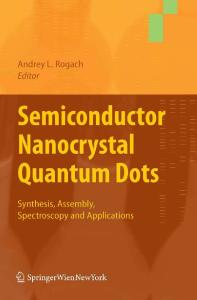 Semiconductor Nanocrystal Quantum Dots