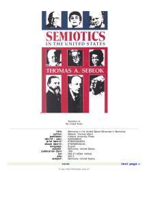 Semiotics in the United States