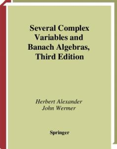 Several Complex Variables and Banach Algebras: 35