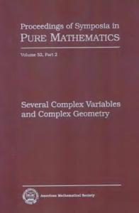 Several complex variables and complex geometry,