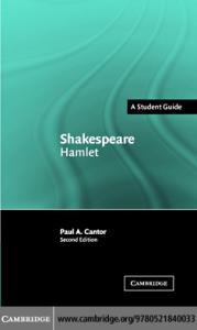 Shakespeare: Hamlet (Landmarks of World Literature (New))