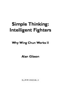Simple Thinking:Intelligent Fighter