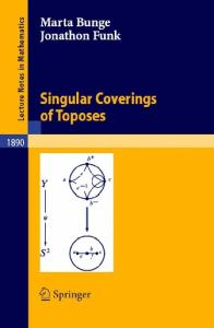 Singular Coverings of Toposes (Lecture Notes in Mathematics)