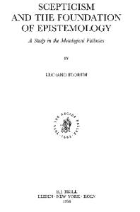 Skepticism and the Foundation of Epistemology: A Study in the Metalogical Fallacies (Brill's Studies in Intellectual History)