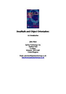 Smalltalk and Object Orientation An Introduction