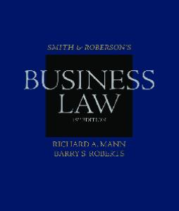 Smith and Roberson's Business Law