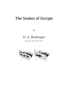 Snakes of Europe