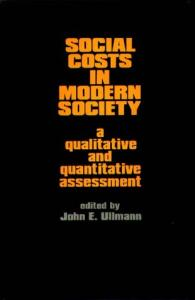 Social Costs in Modern Society: A Qualitative and Quantitative Assessment