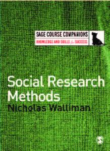 Social Research Methods (SAGE Course Companions)
