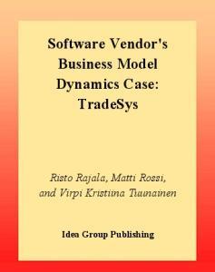 Software Vendor's Business Model Dynamics Case: Tradesys