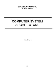 solution manual computer system architecture