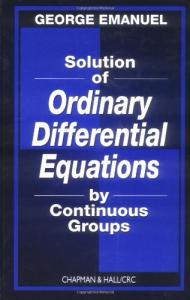 Solution of ordinary differential equations by continuous groups