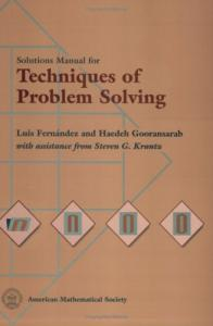 Solutions manual for Techniques of problem solving