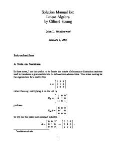 Solutions to Introduction to Linear Algebra by Gilbert Strang