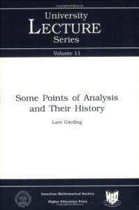 Some points in analysis and their history