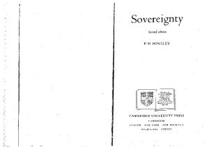 Sovereignty, 2nd Edition