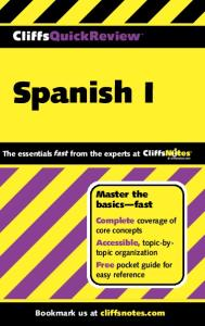 Spanish I (Cliffs Quick Review)