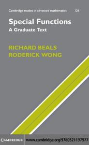 Special functions: A graduate text