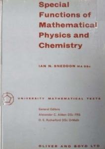 Special Functions of Mathematical Physics and Chemistry