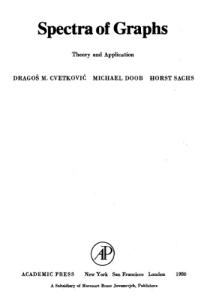Spectra of Graphs: Theory and Application (Pure and Applied Mathematics)