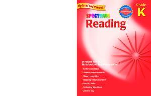 Spectrum Reading, Kindergarten