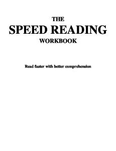 Speed Reading Workbook