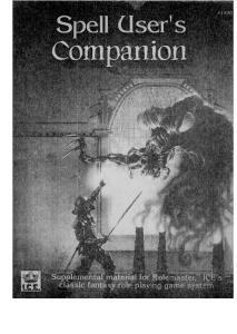 Spell User's Companion (Rolemaster RPG)