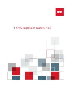 SPSS 13.0 Regression Models