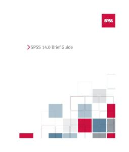 SPSS 14.0 Brief Guide