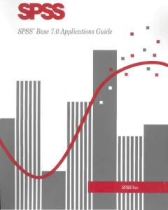 SPSS Base 7.0 Applications Guide