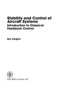 Stability and Control of Aircraft Systems: Introduction to Classical