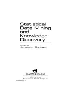 Statistical Data Mining & Knowledge Discovery