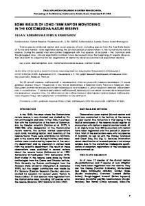 Status of Raptor Populations in Eastern Fennoscandia