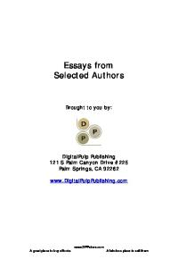 Steal These Essays