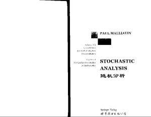 Stochastic Analysis (Grundlehren der mathematischen Wissenschaften 313)