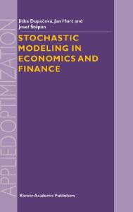 Stochastic Modeling in Economics and Finance (Applied Optimization)