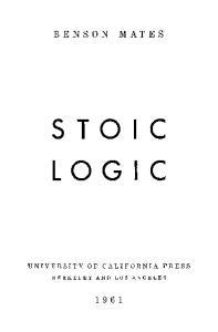 Stoic Logic, 2nd Edition