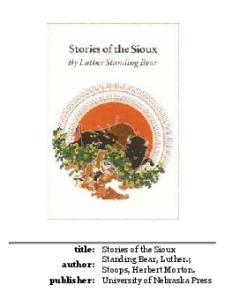 Stories of the Sioux