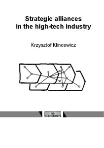 Strategic alliances in the high-tech industry