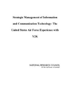 Strategic Management of Information and Communication Technology: The United States Air Force Experience with Y2K