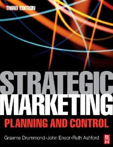 Strategic Marketing, Third Edition: Planning and Control