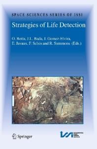 Strategies of Life Detection (Space Sciences Series of ISSI)