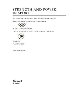 Strength and Power in Sport: Olympic Encyclopedia of Sports Medicine (The Encyclopaedia of Sports Medicine)