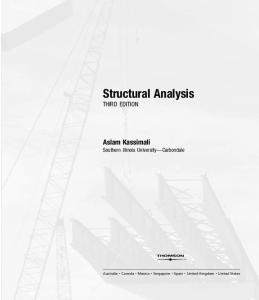 Structural Analysis, Third Edition (with CD-ROM)