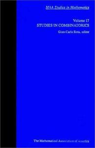 Studies in Combinatorics (MAA Studies in Mathematics)