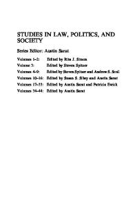 Studies in Law, Politics, and Society, Volume 45 (Studies in Law, Politics and Society)